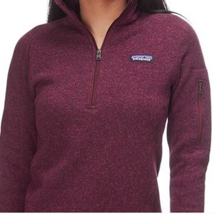 XS Patagonia 1/4 Zip Better Sweater Dark Currant